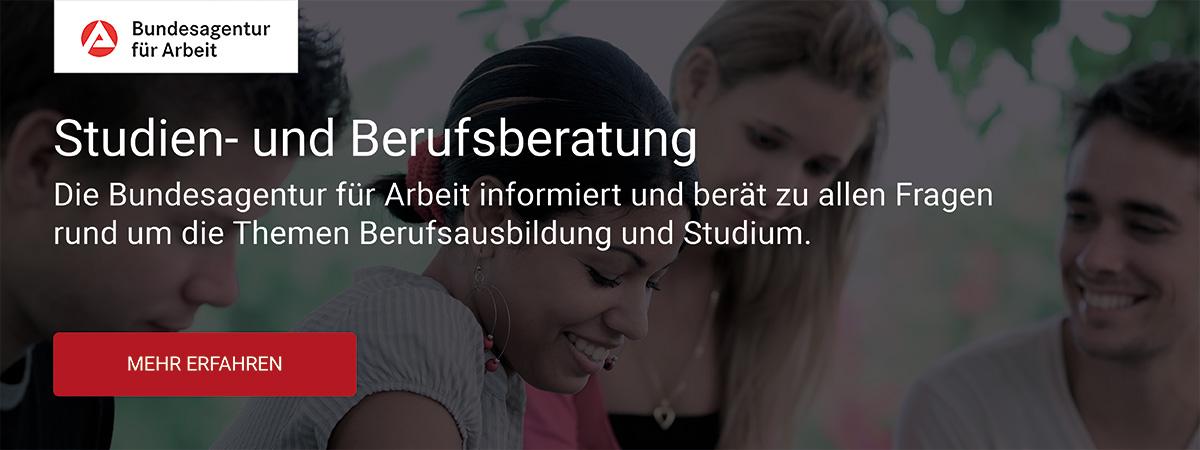 Banner zur Berufs- und Studienberatung